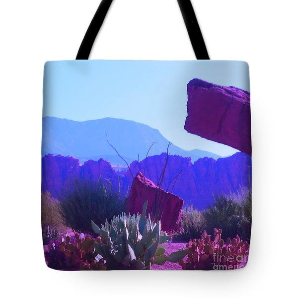 Tote Bag featuring the photograph Saint George Rocks by Ann Johndro-Collins