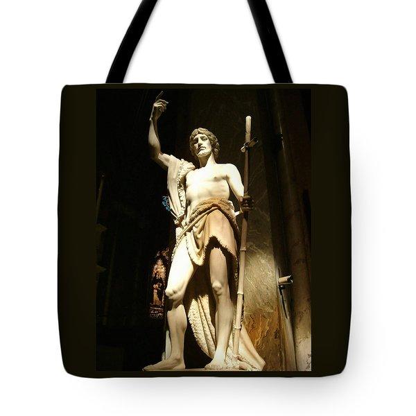 Saint John The Baptist Tote Bag by Ellen Henneke