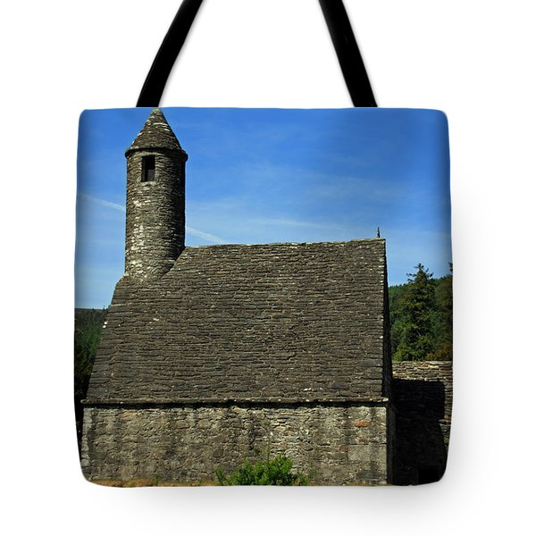 Saint Kevin's Church Tote Bag by Aidan Moran