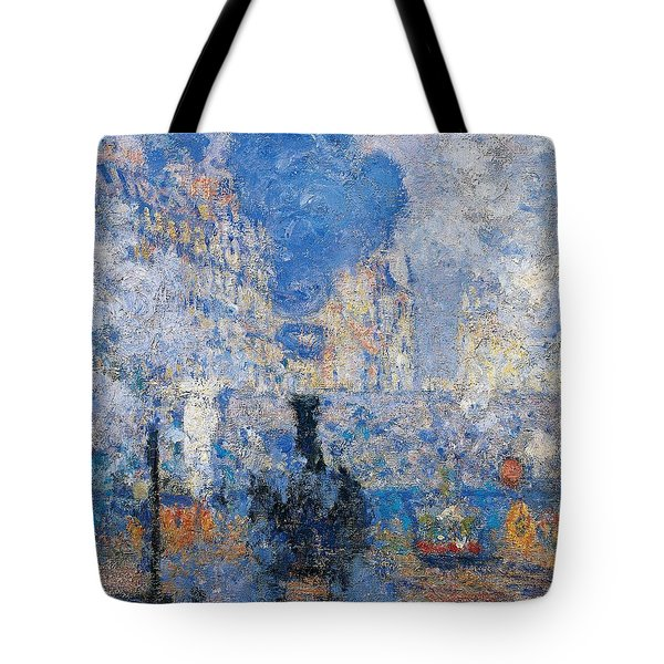 Saint Lazare Station Tote Bag by Claude Monet