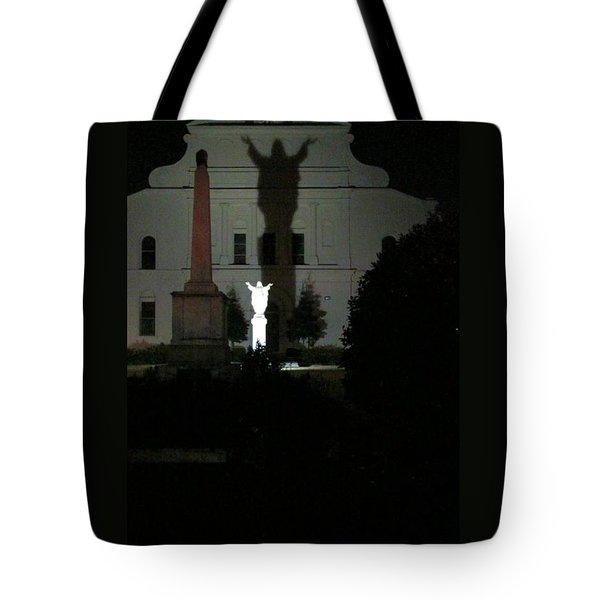 Saint Louis Cathedral Courtyard - New Orleans La Tote Bag by Deborah Lacoste
