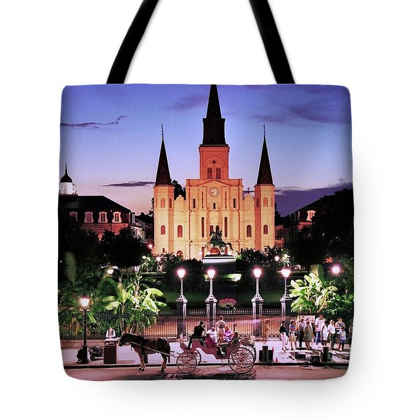Saint Louis Cathedral New Orleans Tote Bag by Allen Beatty