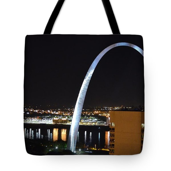Tote Bag featuring the photograph Saint Louis Skyline And Jefferson Expansion Arch by Jeff at JSJ Photography