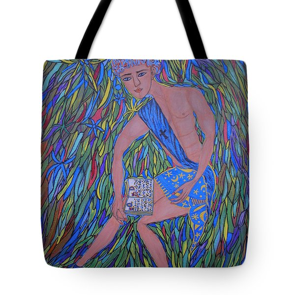 Tote Bag featuring the painting Saint Mark by Marie Schwarzer
