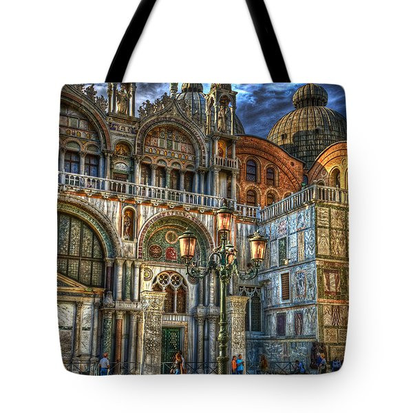 Tote Bag featuring the photograph Saint Marks Square by Jerry Fornarotto
