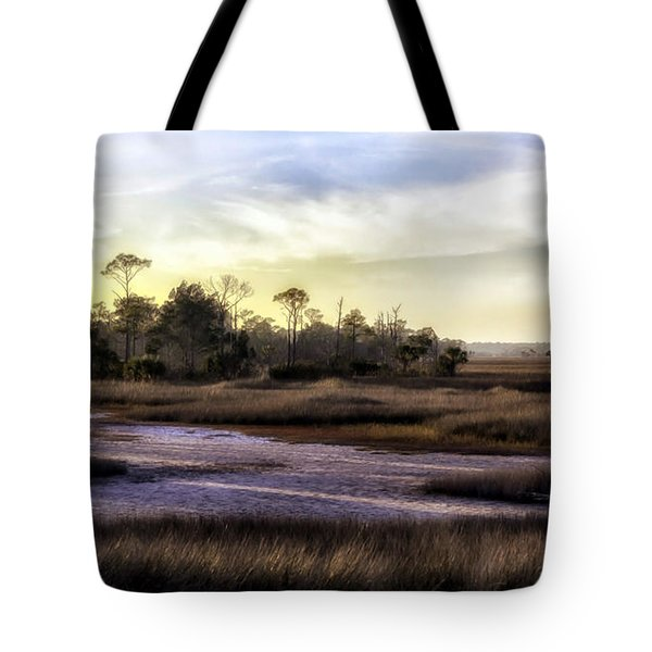 Saint Marks Wetland Sunset Tote Bag