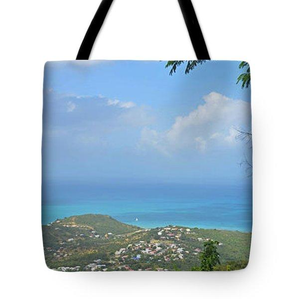 Saint Martin Panorama - Looking Down On Sint Maarten Tote Bag