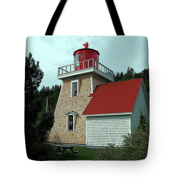 Saint Martin's Lighthouse 2 Tote Bag by Kathleen Struckle
