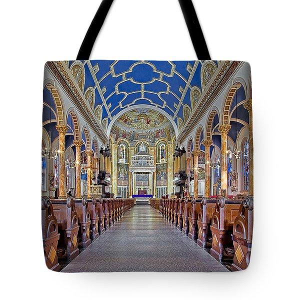 Saint Michael Catholic Church Tote Bag by Susan Candelario