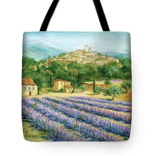 Saint Paul De Vence And Lavender Tote Bag