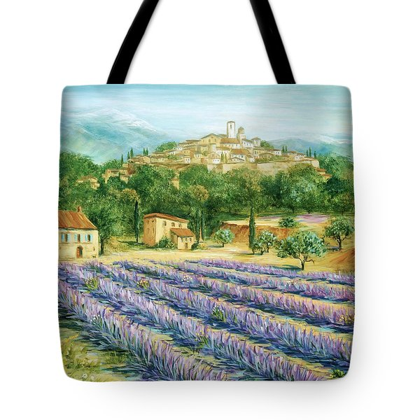 Saint Paul De Vence And Lavender Tote Bag by Marilyn Dunlap