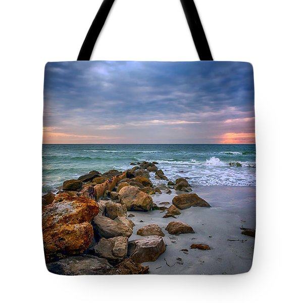 Saint Pete Beach Stormy Sunset Tote Bag