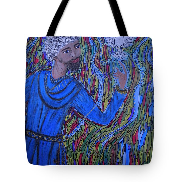 Tote Bag featuring the painting Saint Peter by Marie Schwarzer