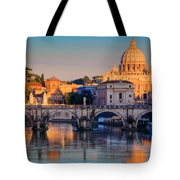Saint Peters Basilica Tote Bag by Inge Johnsson