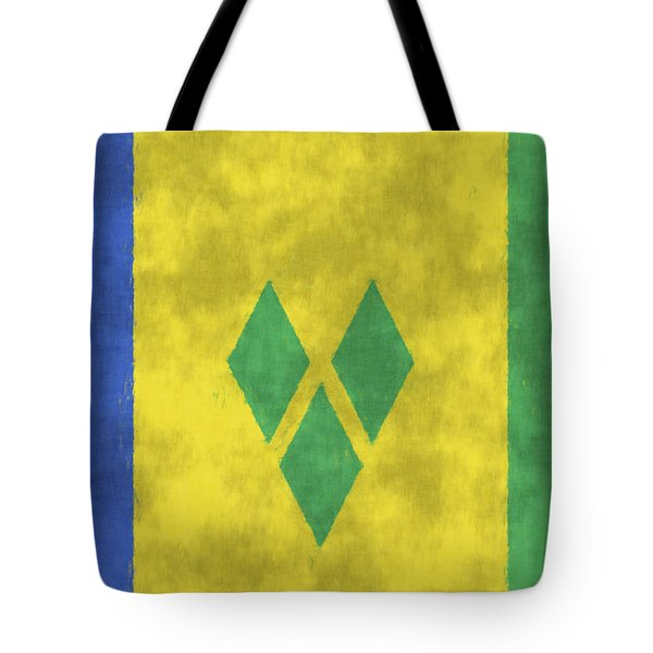 Saint Vincent And The Grenadines Flag Tote Bag