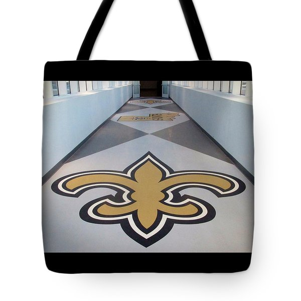 Saints Are Coming - Benson Towers - New Orleans La Tote Bag by Deborah Lacoste