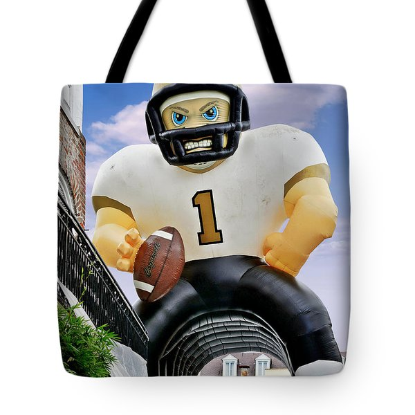 Saints New Orleans Tote Bag by Christine Till