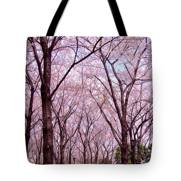 Sakura Tree Tote Bag by Andrea Anderegg