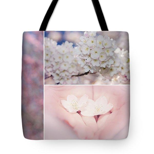 Sakura Triptych Tote Bag by Lisa Knechtel