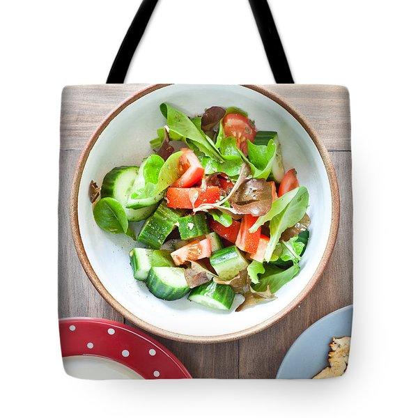 Salad Tote Bag by Tom Gowanlock