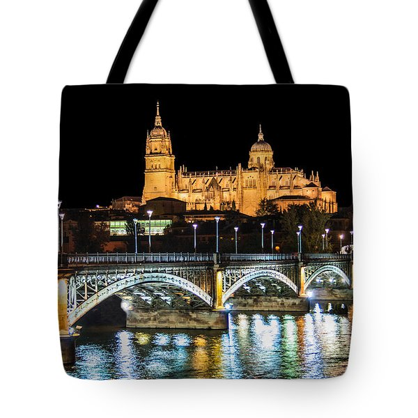 Salamanca At Night Tote Bag