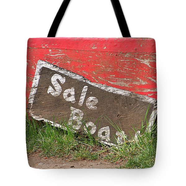 Tote Bag featuring the photograph Sale Boat by Art Block Collections