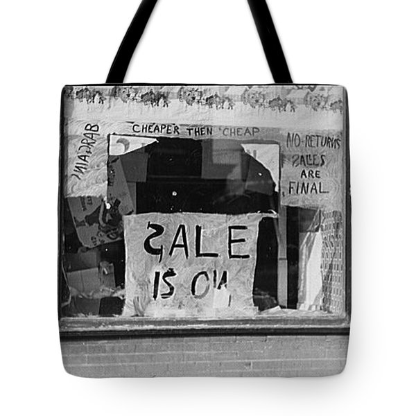 Sale Is On Tote Bag by Bill Cannon