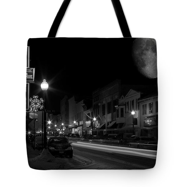 Salem Ohio Winter Moon Tote Bag
