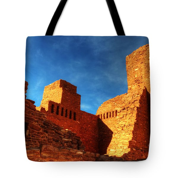 Salinas Pueblo Abo Mission Golden Light Tote Bag by Bob Christopher