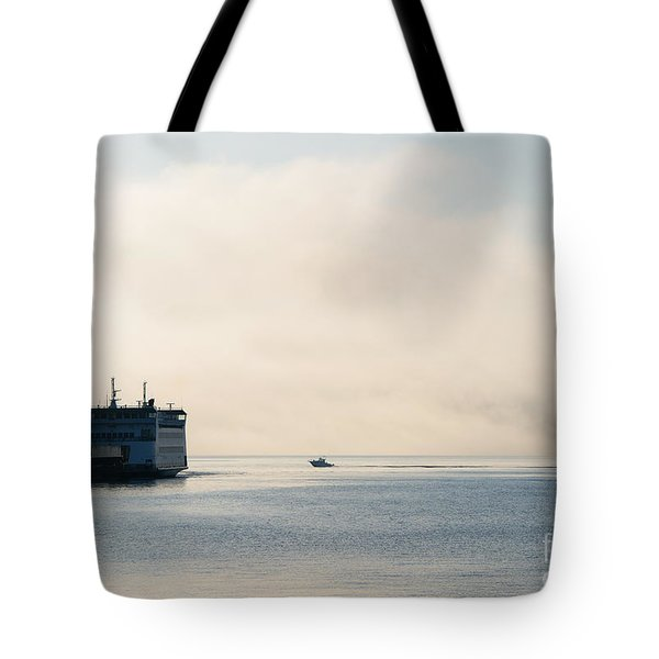 Salish Into The Fog Tote Bag by Mike  Dawson