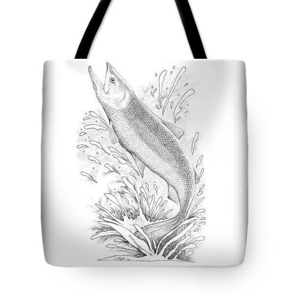 Salmon Tote Bag by Lawrence Tripoli