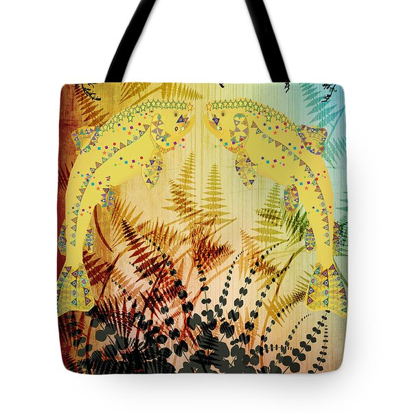Salmon Love Gold Tote Bag by Kim Prowse