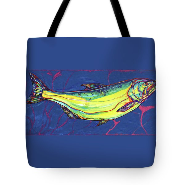 Salmon Of Knowledge Tote Bag by Derrick Higgins