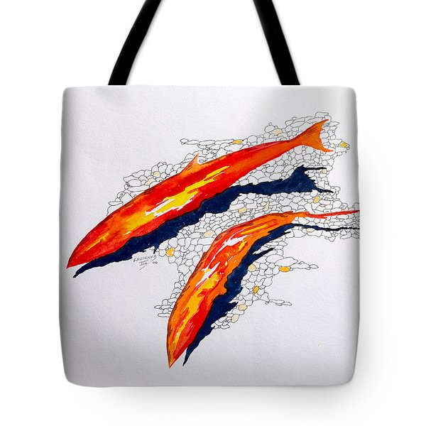 Salmon Run Tote Bag