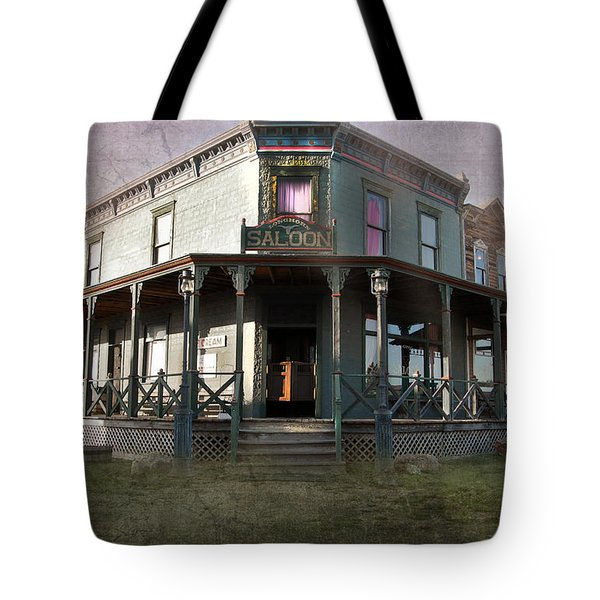 Tote Bag featuring the photograph Saloon by Judy Hall-Folde