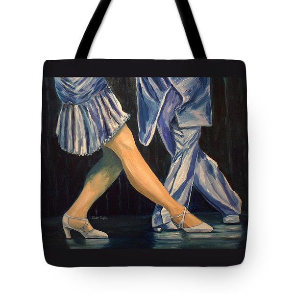 Salsa Stepping Tote Bag by Julie Brugh Riffey