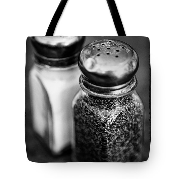 Salt And Pepper Shaker  Black And White Tote Bag