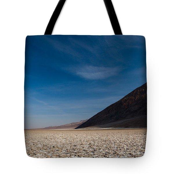 Salt Flat, Western Hemisphere, Badwater Tote Bag