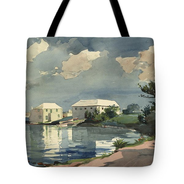 Salt Kettle Bermuda Tote Bag by Winslow Homer