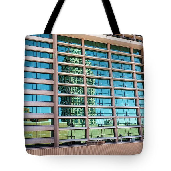Tote Bag featuring the photograph Salt Lake City Architecture Reflection by Ely Arsha