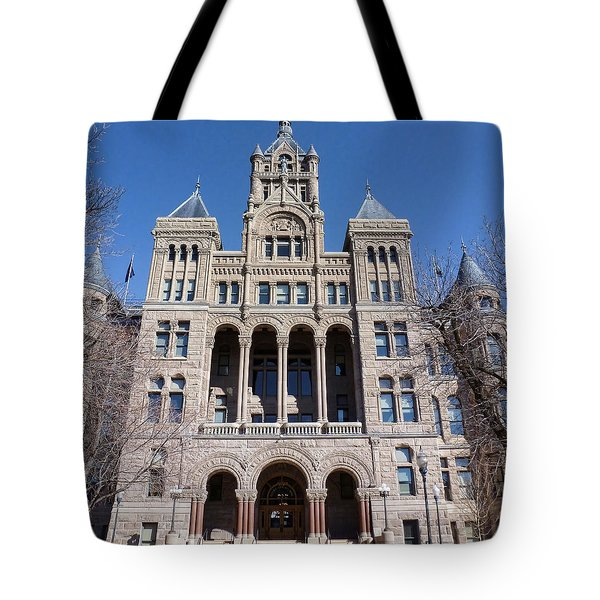 Tote Bag featuring the photograph Salt Lake City - City Hall - 2 by Ely Arsha