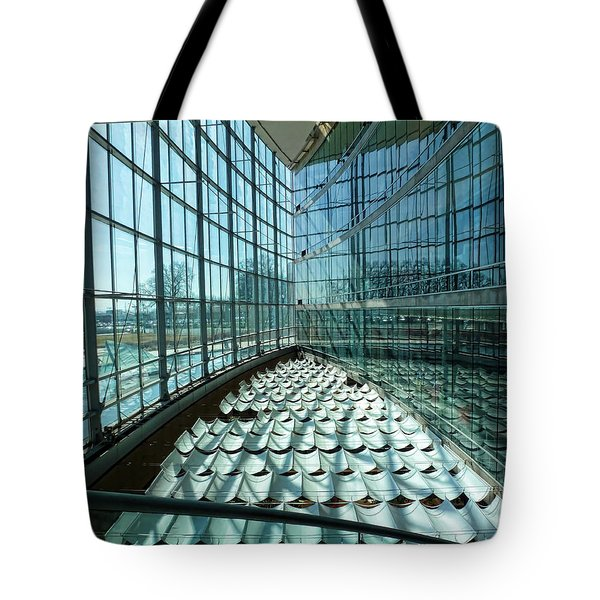 Tote Bag featuring the photograph Salt Lake City Library by Ely Arsha
