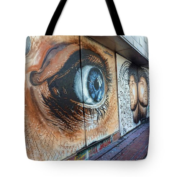 Tote Bag featuring the photograph Salt Lake City - Mural 1 by Ely Arsha