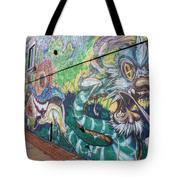 Tote Bag featuring the photograph Salt Lake City - Mural 2 by Ely Arsha