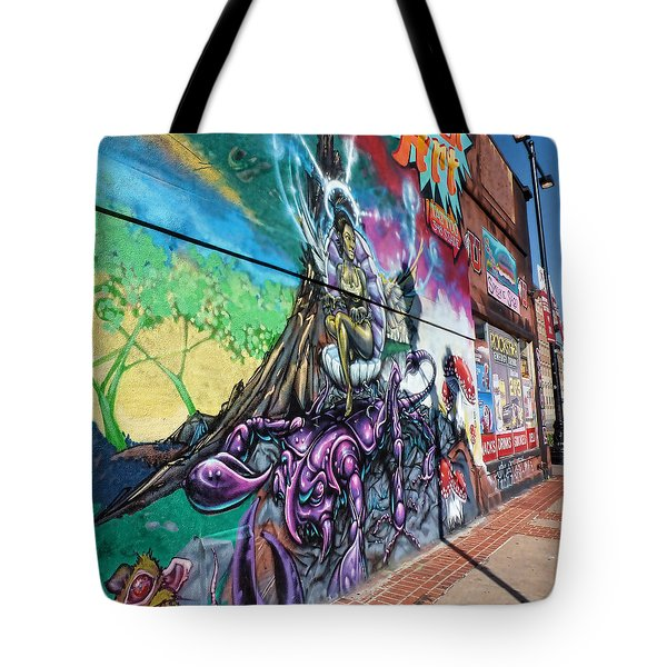 Tote Bag featuring the photograph Salt Lake City - Mural 3 by Ely Arsha