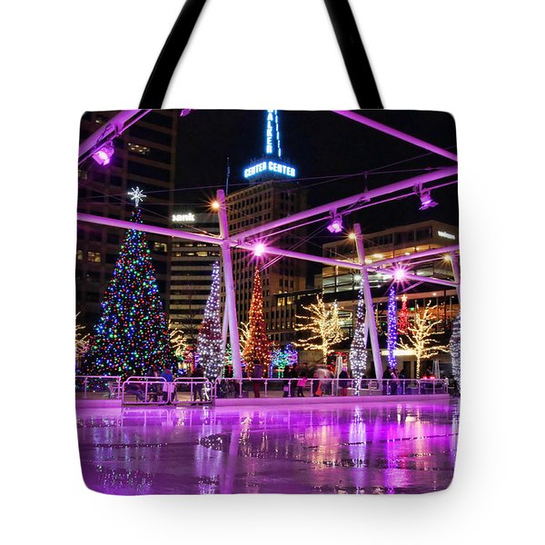 Tote Bag featuring the photograph Salt Lake City - Skating Rink - 2 by Ely Arsha