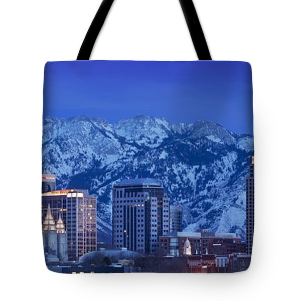 Tote Bag featuring the photograph Salt Lake City Skyline by Brian Jannsen