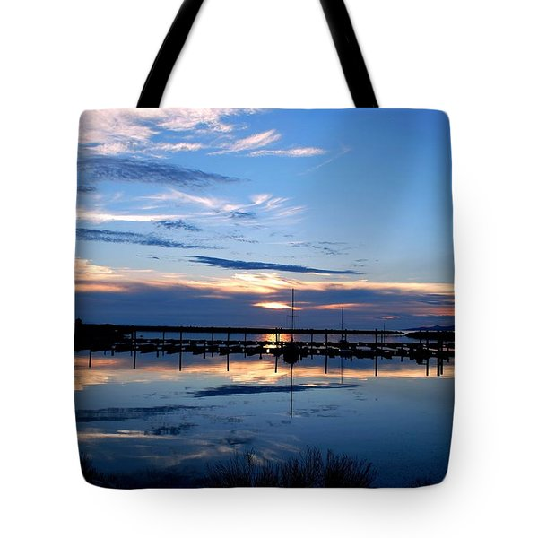 Tote Bag featuring the photograph Salt Lake Marina Sunset by Matt Harang