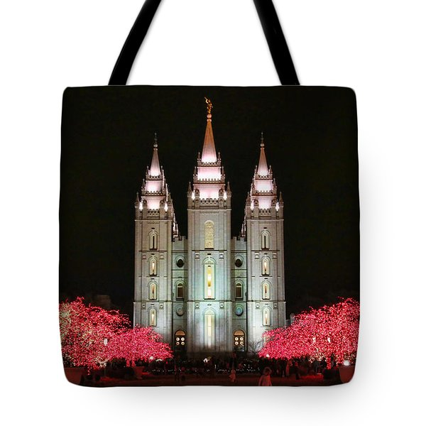 Tote Bag featuring the photograph Salt Lake Temple - 1 by Ely Arsha
