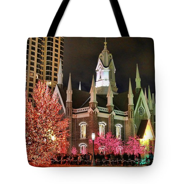 Tote Bag featuring the photograph Salt Lake Temple - 3 by Ely Arsha